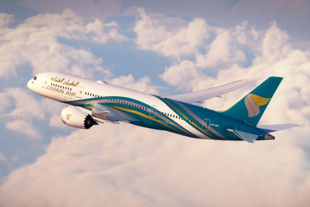 Un Boeing Dreamliner 787-8 V1 de la flotte d'Oman Air dans les cieux © DR