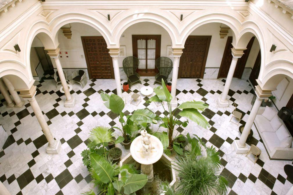 Le charmant patio, au coeur du Palacio © Palacio de Villapanés