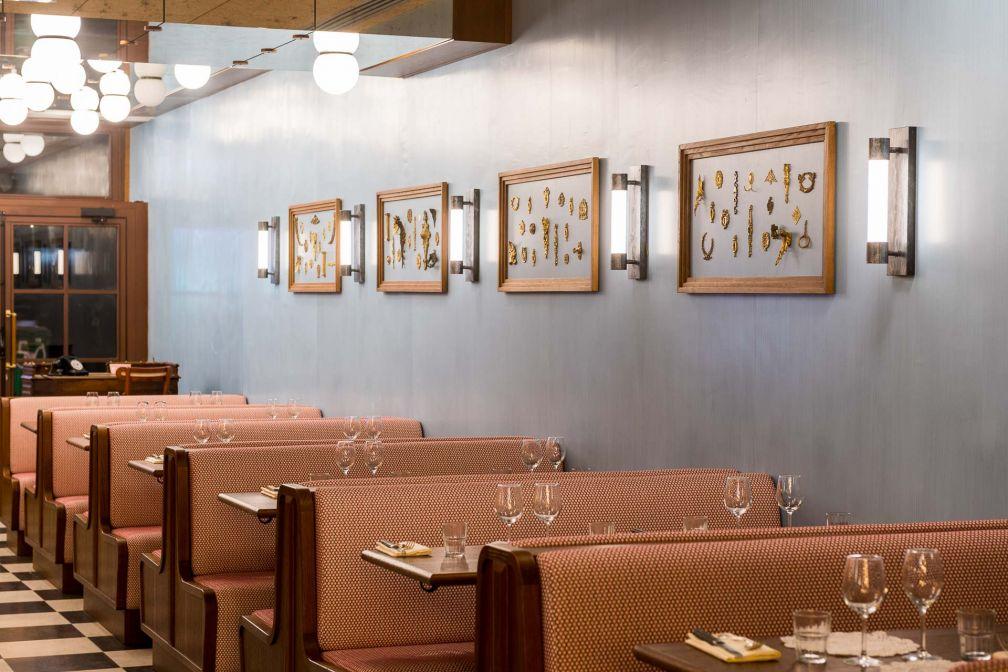 Le décor de la Brasserie Rosie est signé John Whelan, devenu un éminent spécialiste des intérieurs de brasserie © DR