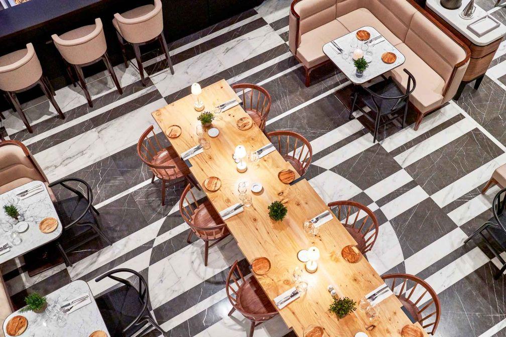 Les intérieurs de la nouvelle Brasserie Lutetia sont signés Jean-Michel Wilmotte © Richard Haughton