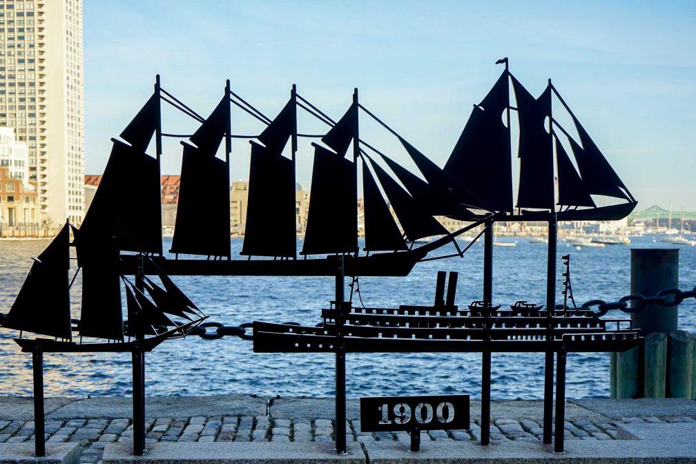 L'histoire maritime de Boston est omniprésente, notamment dans Fan Pier Park © YONDER.fr