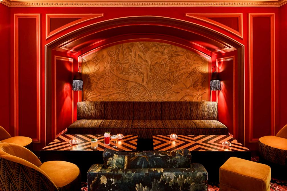 Au sous-sol, un bar secret, façon speakeasy chic © Francis Amiant