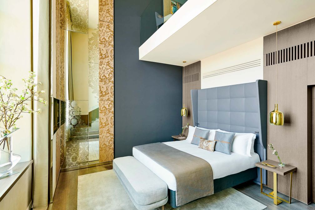 Les Suites Duplex font face au Rhône avec leurs fenêtres hautes de six mètres © Eric Cuvillier