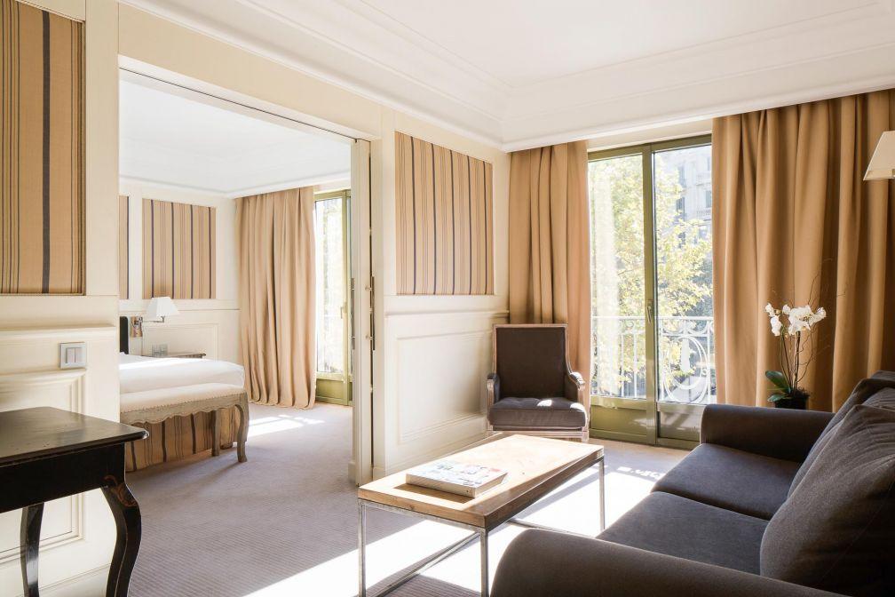 À l'intérieur d'une Junior Suite du Majestic Hotel & Spa Barcelona © DR