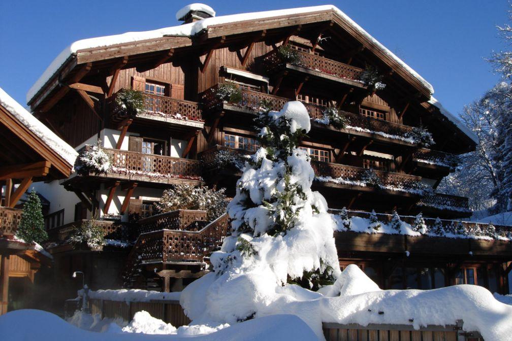 Le Chalet sous la neige © Domaine du Mont d'Arbois