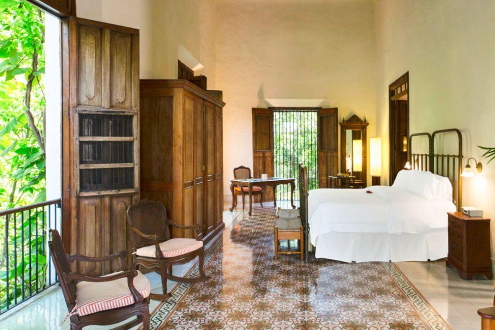 L'ancienne chambre des propriétaires a été transformée en suite présidentielle  © Luxury Collection / Starwood