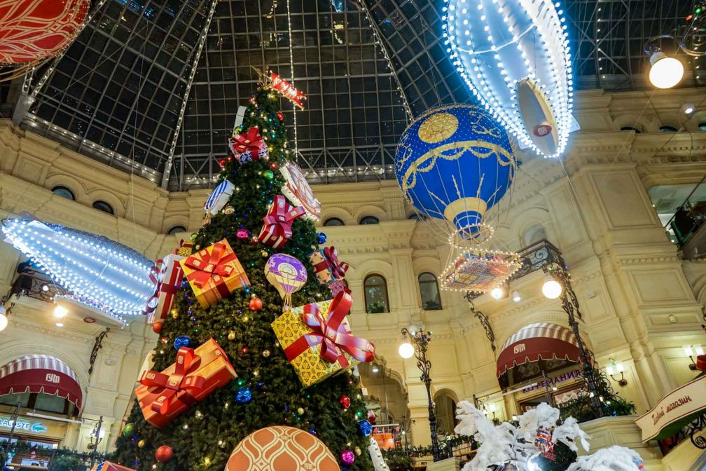 Les décorations de Noël du GOUM, le grand magasin moscovite le plus célèbre © YONDER.fr