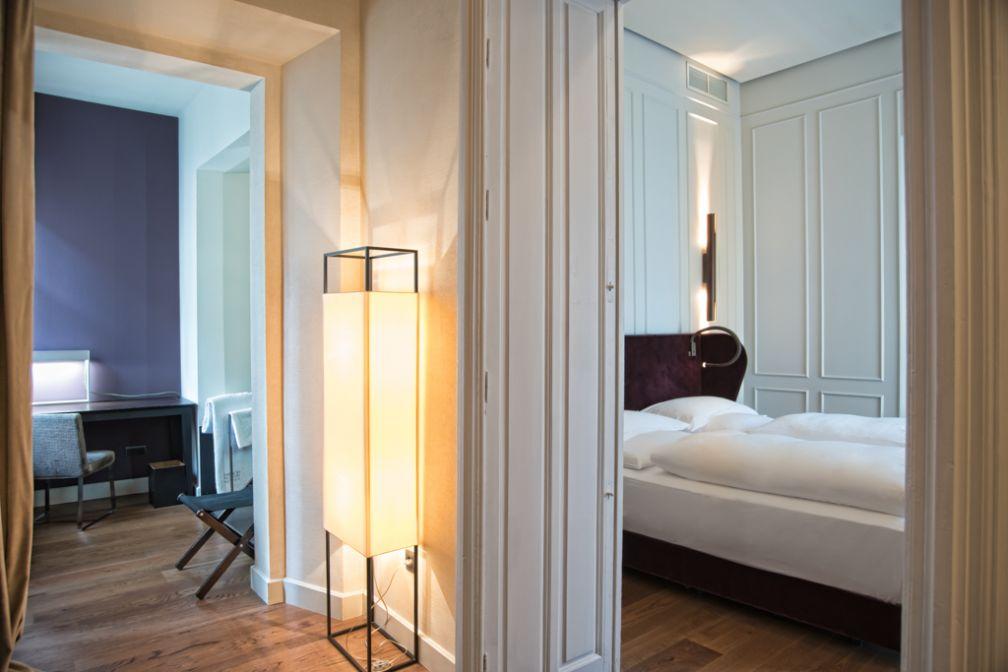 Elégante atmosphère résidentielle dans les chambres Grand Deluxe  © Palacio de Villapanés