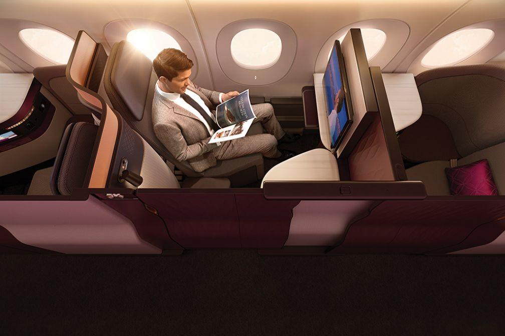 Ce même siège, occupé par un passager, en mode