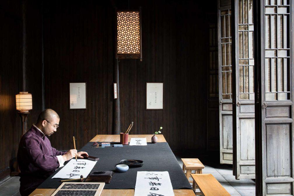 C'est ici que se déroulent les ateliers de calligraphie... © Aman