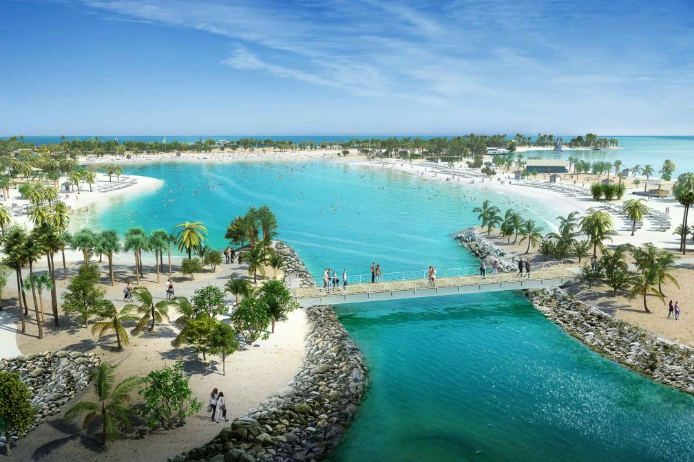 Le Grand Lagon de MSC Ocean Cay sera le lieu de prédilection des nageurs et des amateurs de sports nautiques © DR