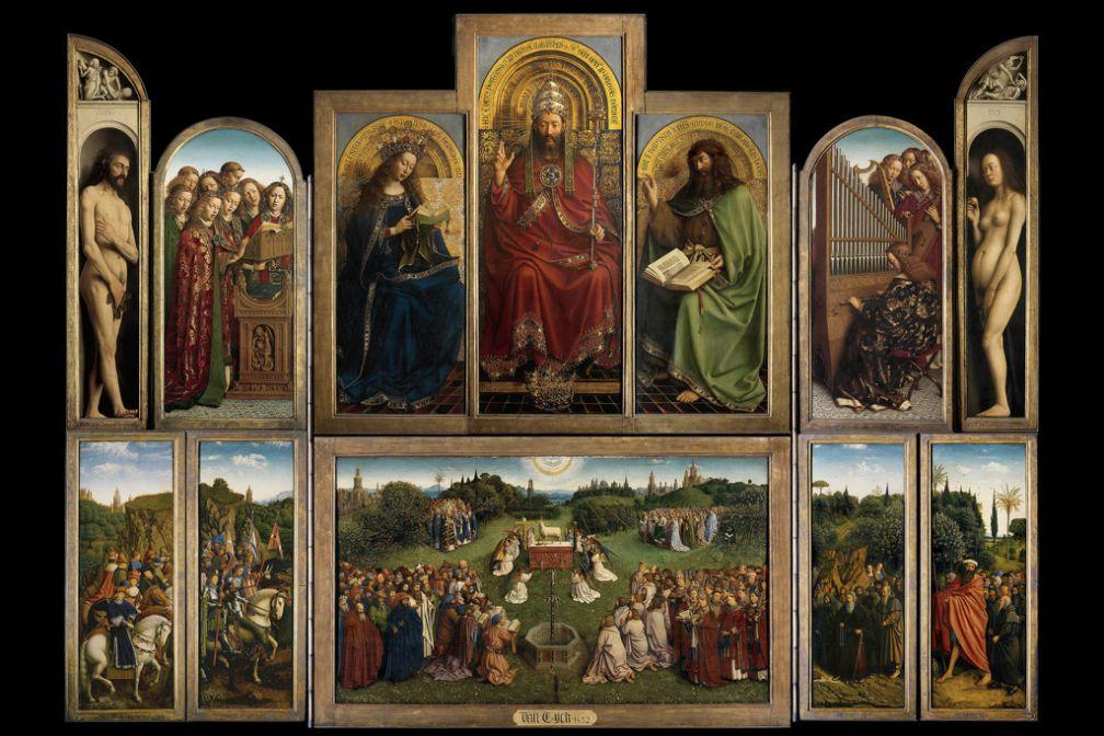 L'Agneau mystique des frères Van Eyck, l'un des plus grands chefs d'oeuvre de l'histoire de la peinture, à découvrir à Gand © VisitGent
