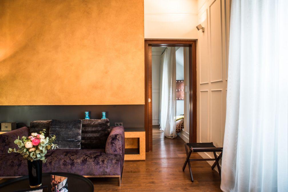Dans le salon de la Junior Suite Marquès © Palacio de Villapanés