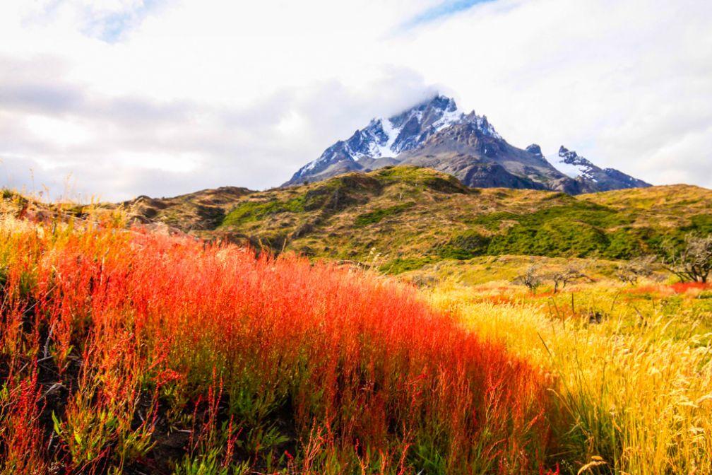 Massif de Las Torres depuis le Lago Pehoé | © Cédric Aubert
