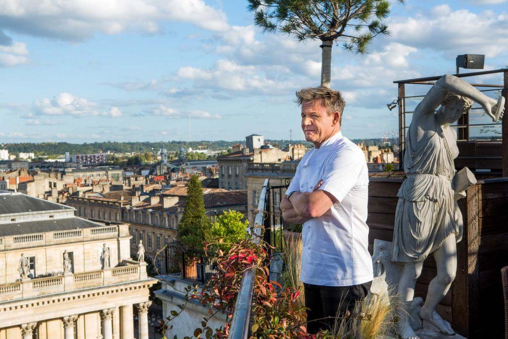 Le légendaire chef britannique Gordon Ramsay supervise la restauration de l'hôtel © Julien Faure