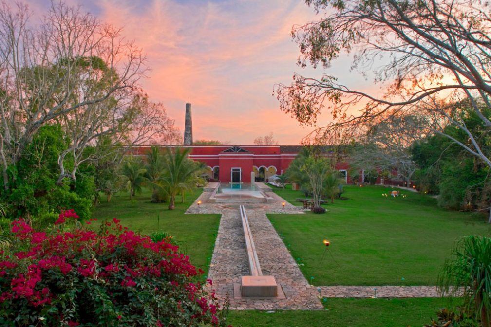Coucher de soleil sur l'hacienda © Luxury Collection / Starwood