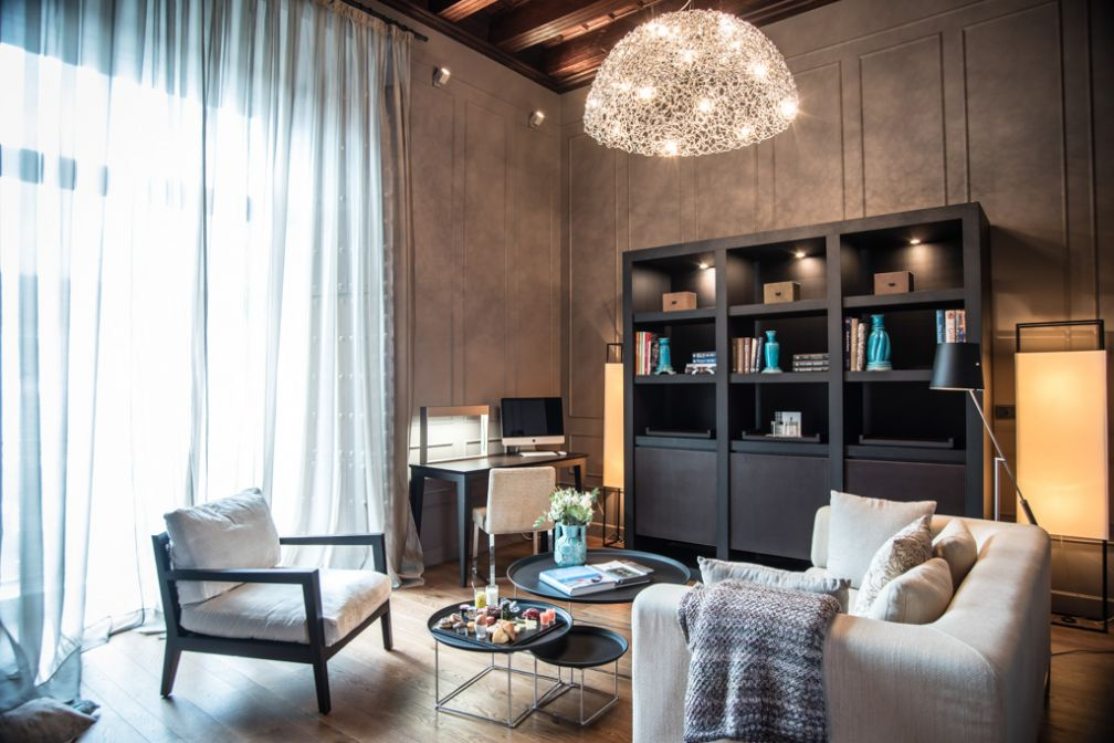 À l'intérieur de la Suite Villapanès, l'une des suites de prestige de l'hôtel © Palacio de Villapanés