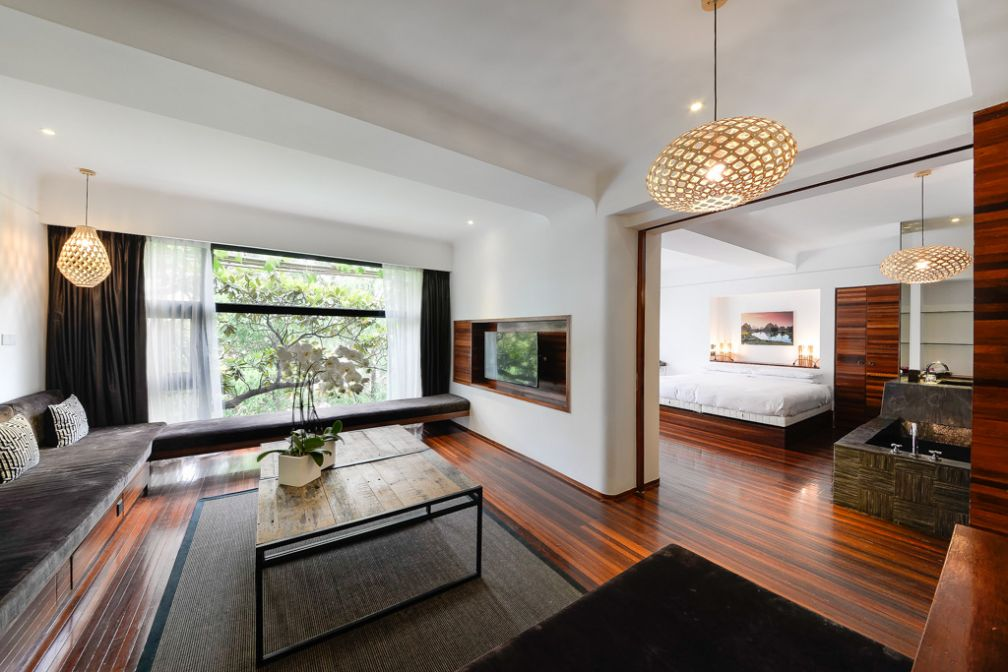 Avec plus de 80 mètres carrés de surface et un salon séparé, la Penthouse Suite est la chambre la plus exclusive des 26 que compte l'URBN Shanghai © URBN