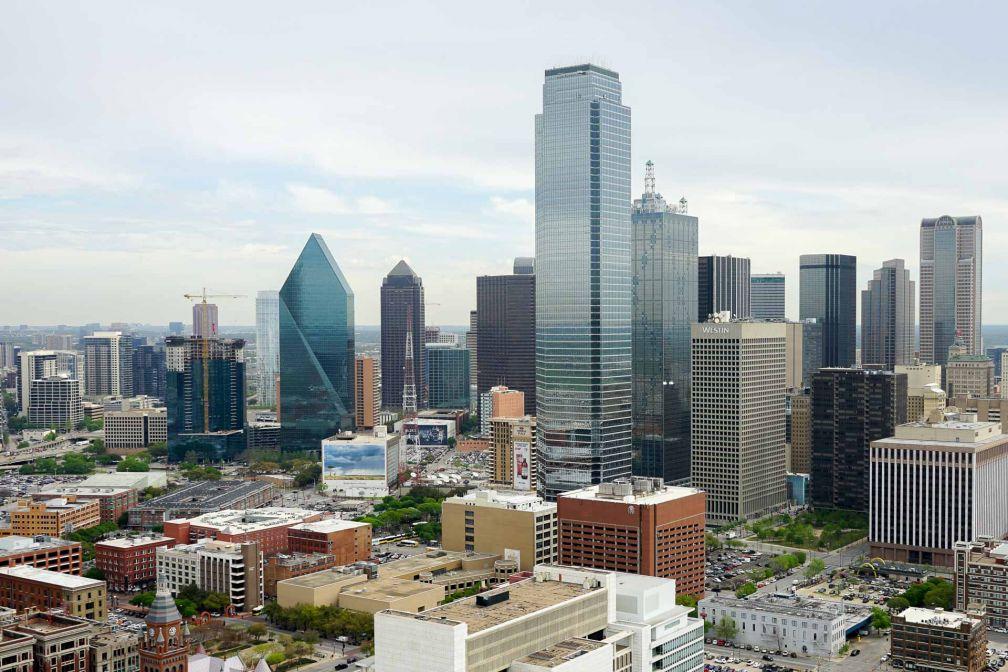 Vue de Dallas depuis l'observatoire de la Reunion Tower © YONDER.fr