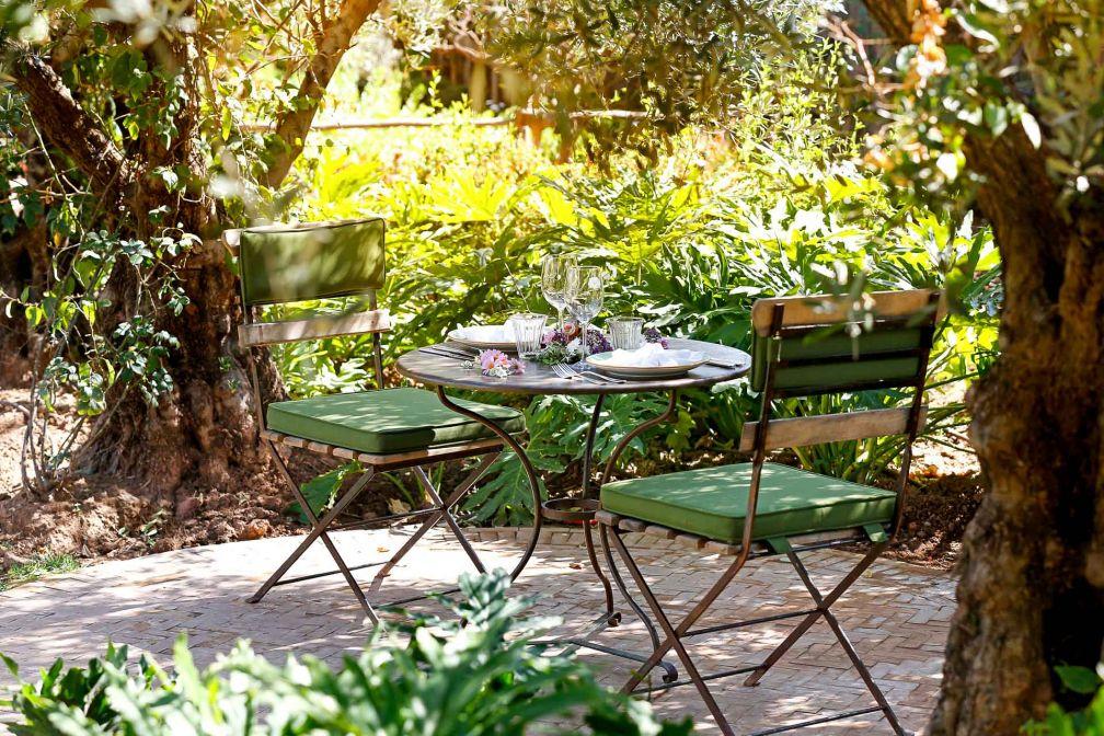 Le jardin du Palais Ronsard est un havre de paix au cœur de la palmeraie de Marrakech © DR