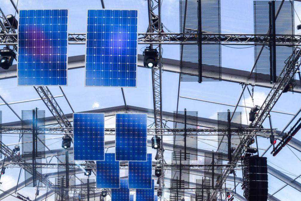 Panneaux solaires sur la scène Audio © Yonder.fr