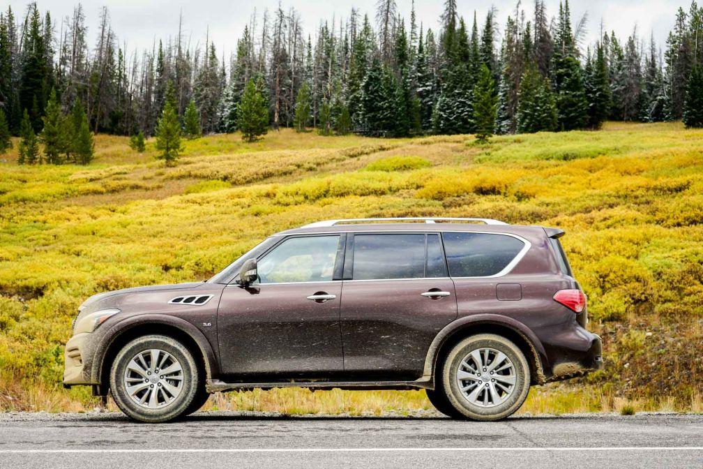 Notre véhicule pendant ce roadtrip, un imposant SUV, d'une dimension tout à fait standard pour le Wyoming.