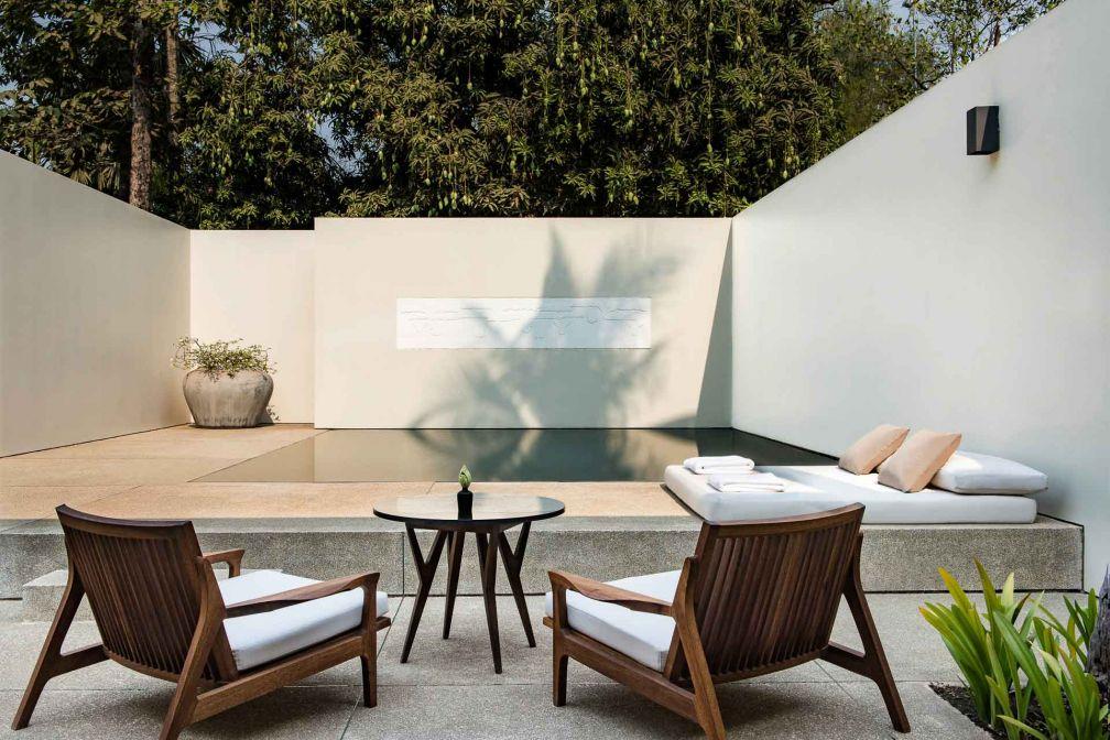 Sur les 24 suites que compte l'hôtel, 12 disposent de piscines privées © Aman