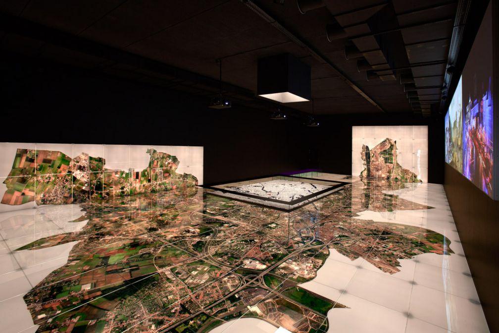 À l'intérieur du STAM, une salle ultra moderne pour découvrir la ville vue de haut © VisitGent