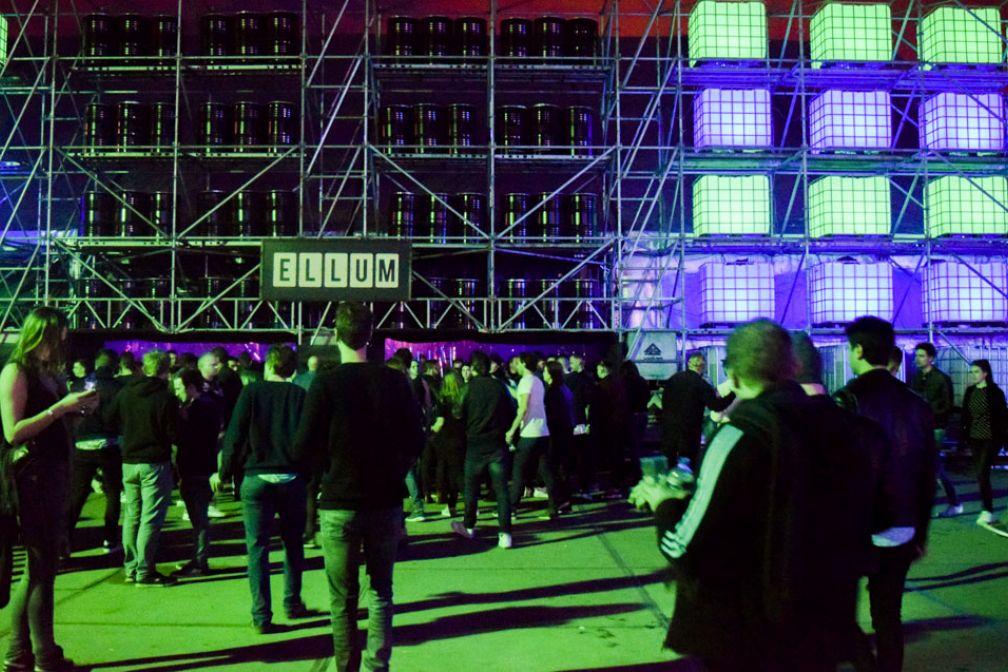 Devant la scène dédiée au label Ellum© Yonder.fr