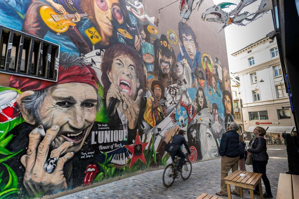 Les graffitis de Gerbergässlein sont sans doutes les plus connus à Bâle. © Basel Tourismus.