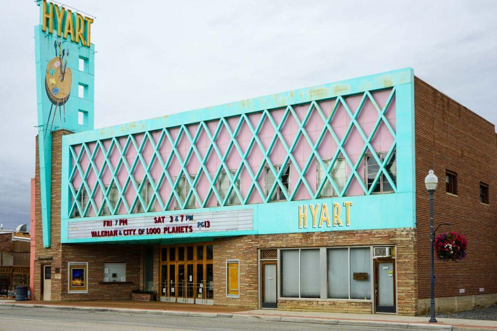 La petite ville de Lovell et son cinéma typiquement américain.