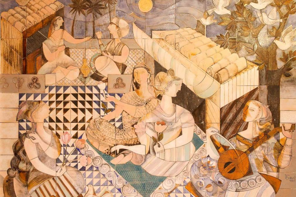 Les mosaïques, le salon libanais et les sculptures antiques restent les symboles de l'extravagance du Byblos © DR
