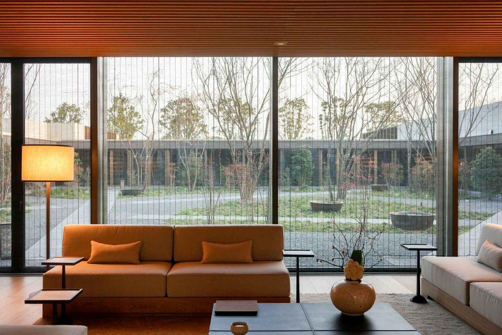 L'Amanyangyun dispose d'un Spa de 2,840 mètres carrés, le plus vaste de toute la collection Aman © YONDER.fr