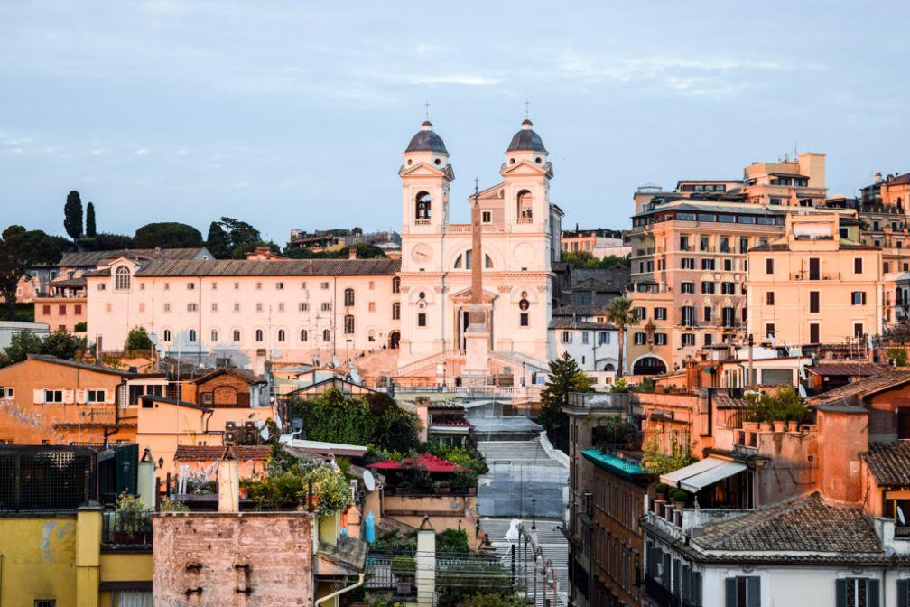 Vue sur Rome depuis la terrasse du Portrait Roma © Yonder.fr