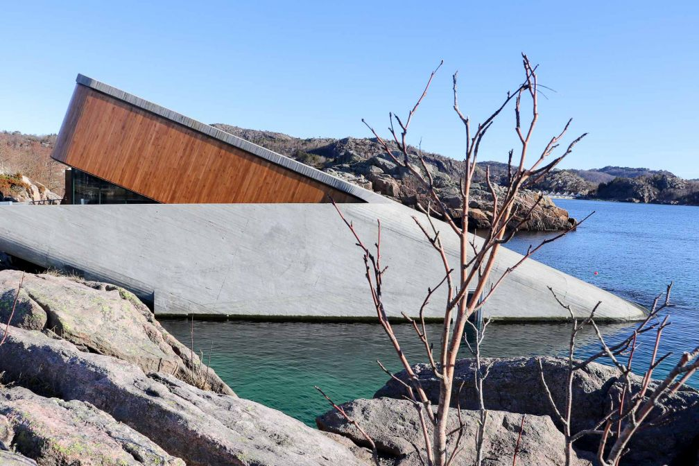 Le restaurant Under à Lindesnes, Norvège - Architecture : Snøhetta - © Joëlle Bah-Dralou