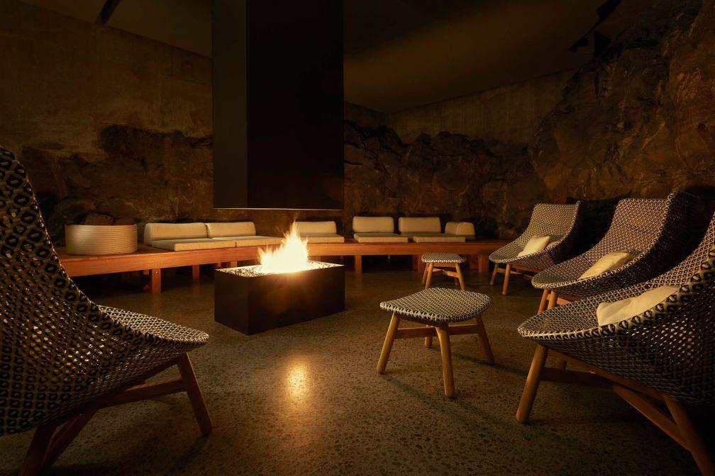 La cheminée souterraine creusée à même les coulées de lave. © The Retreat at Blue Lagoon