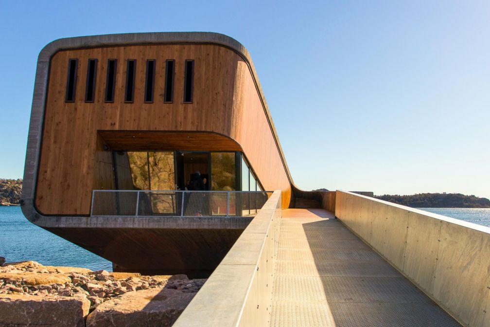 L'entrée du restaurant Under à Lindesnes, Norvège - Architecture : Snøhetta - © Joëlle Bah-Dralou