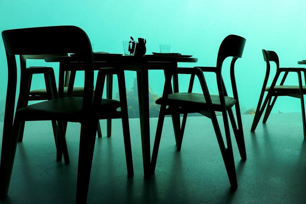 La salle du restaurant Under à Lindesnes - © Joëlle Bah-Dralou
