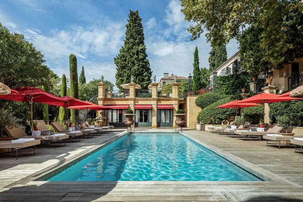 La piscine de la Villa Gallici, l'une des références de la scène hôtelière aixoise © Baglioni Hotels France