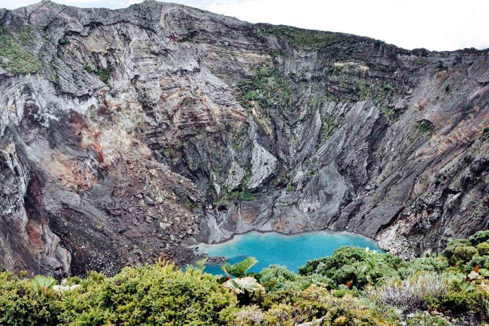 Le cratère du volcan Irazù © Constance Lugger