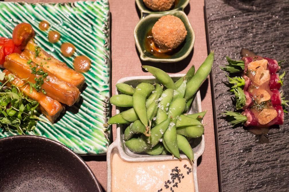 Assortiments d'entrées et plats chez Kabuki