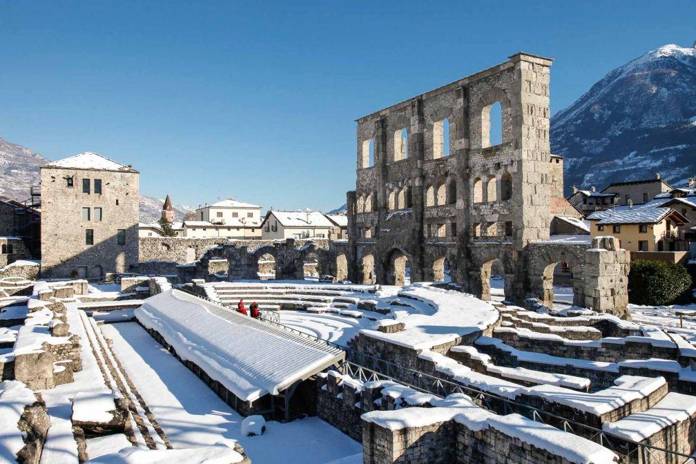 La ville d'Aoste est surnommée la « Rome des Alpes » à cause de ses riches vestiges romains. © Vallée d'Aoste Tourisme