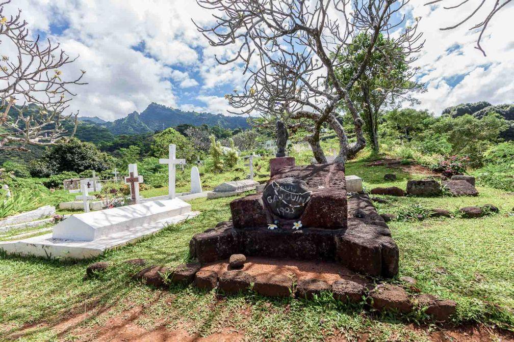 La tombe de Paul Gauguin sur l'île de Hiva Oa © DR