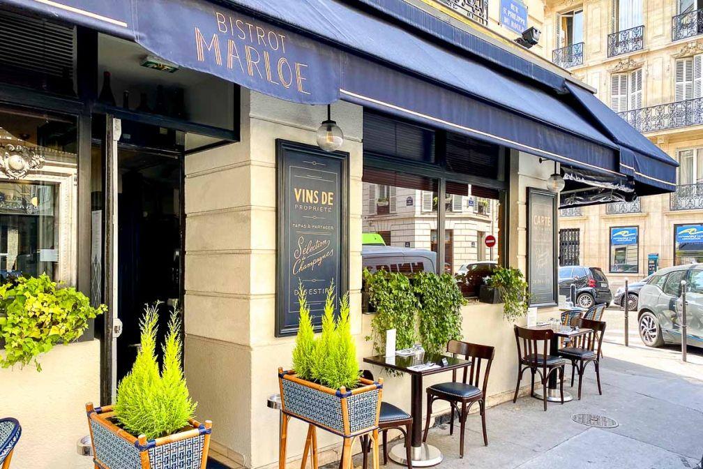 Le bistrot Marloe propose une offre de repaas à emporter dans le 8e arrondissement, à deux pas des Champs-Élysées © EL / YONDER.fr