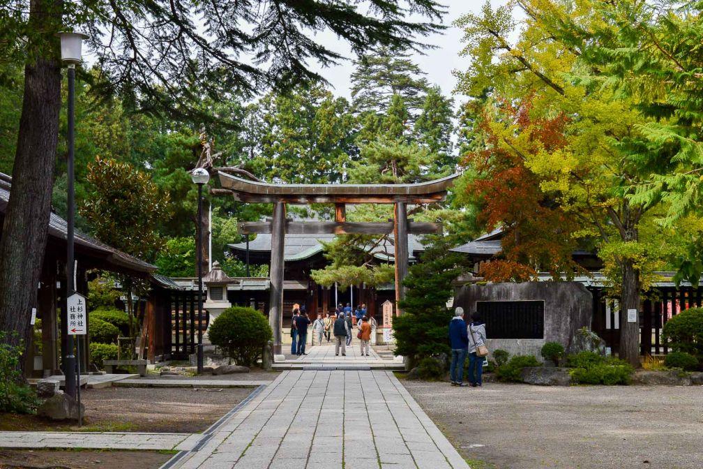 Le sanctuaire d'Uesugi rend hommage à un guerrier médiéval encore très révéré aujourd'hui. © Pierre Gunther