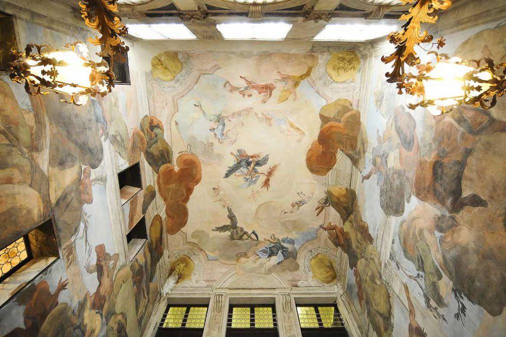 Les fresques du hall de l'hôtel Ca'Sagredo © DR