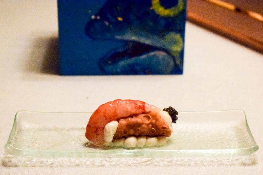 Amuse-bouche servi au restaurant Duomo du chef Ciccio Sultano © Yonder.fr