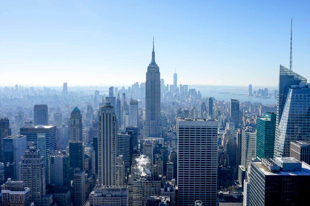 Vue classique de Manhattan depuis l'observatoire Top of The Rock © YONDER.fr