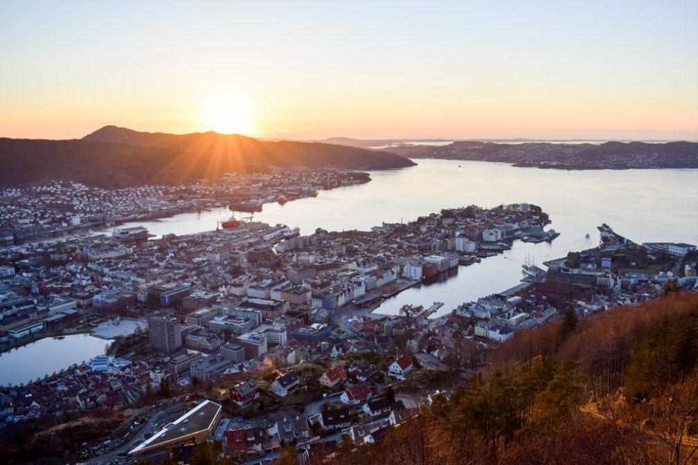 Coucher de solei sur Bergen © YONDER.fr