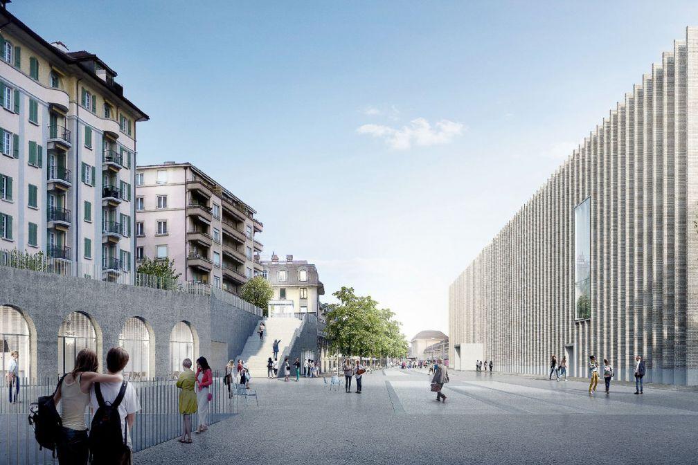 Le Musée cantonal des Beaux-Arts (MCBA, à droite) est le premier musée à avoir rejoint Plateforme 10, l'ambitieux pôle muséal de Lausanne © DR